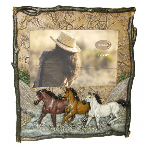 12521 Three Horses Photo Frame