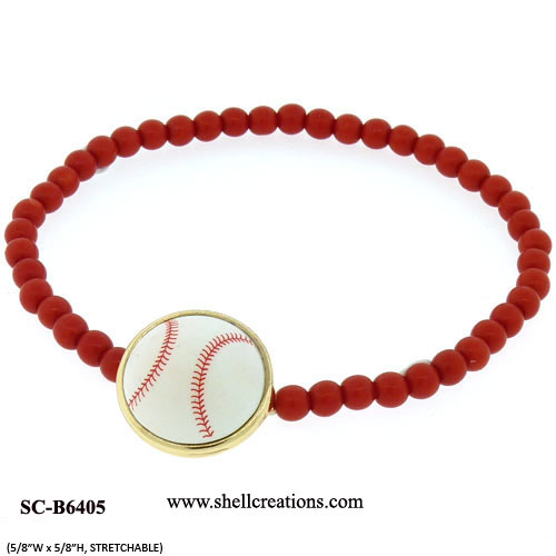 SC-B6405 Baseball Stretch Bracelet.
