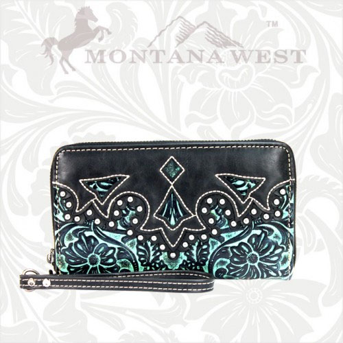 CA-W003-SC Cheyenne Autumn Collection Trinity Ranch Wallet