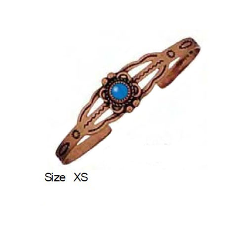 SC-CB- 001 Solid Copper and Turquoise Cuff Bracelet