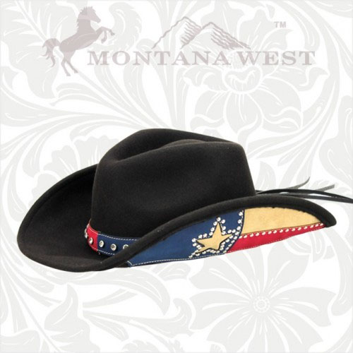 CHT-0001 Montana West Cow Girl Collection Hat