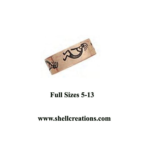 CR063 Copper Unisex Band Ring