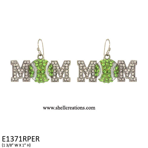 SCE1371RPER Tennis Ball Mom Earrings