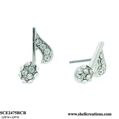 SCE2475RCR Music Note Earrings