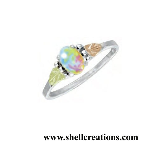 GSL463-SC Ladies' Dakota Gold & Silver Opal Ring