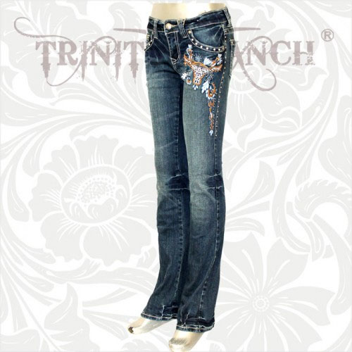 SC-JN-TR003 Stretchy Hip Hugger Denim Trinity Ranch Jeans
