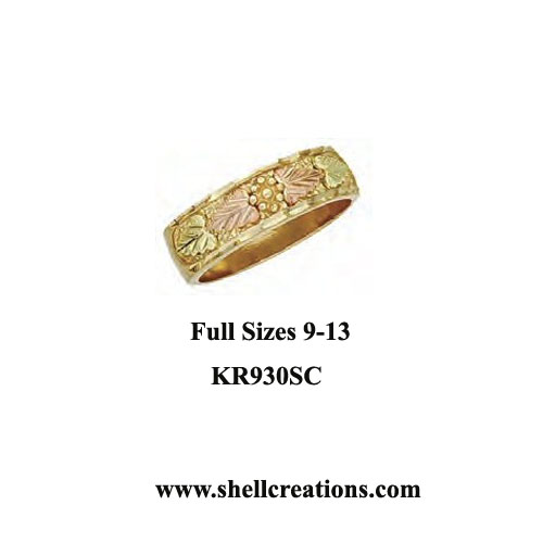 KR930SC Men's Dakota Gold Band Ring