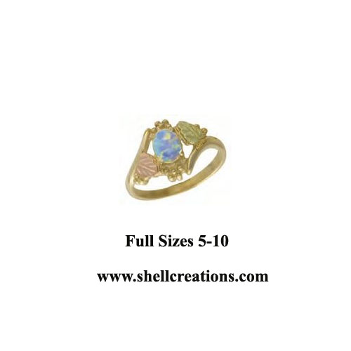KRL685SC Ladies' Dakota 10KGold Opal Ring