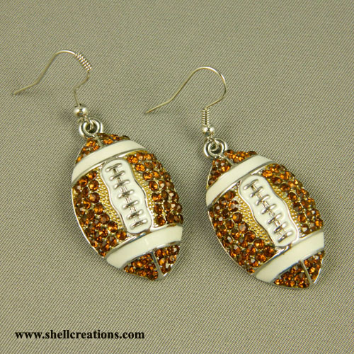 SC-ME59125 Crystal Football Earrings
