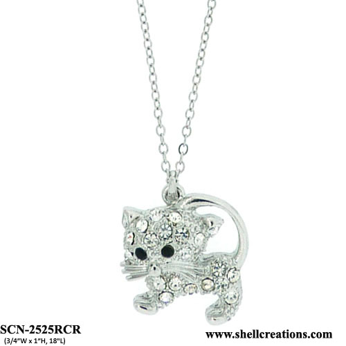 SCN-2525RCR Cat Necklace