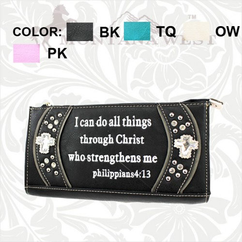 PHP-W005-SC Spiritual Collection Clutch Wallet