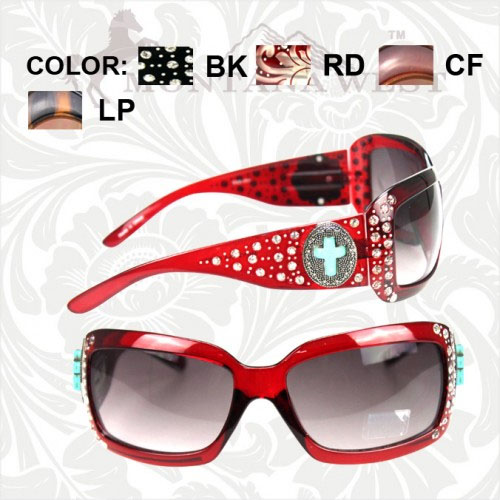 SGS-001S Spiritual Collection Sunglasses- Turquoise Cross