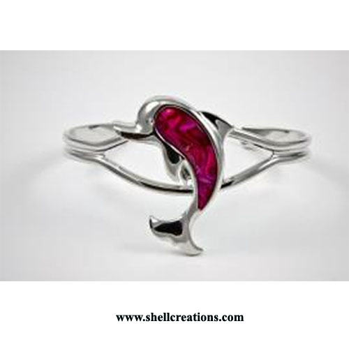 SCL111 Paua Shell Dolphin Bangle