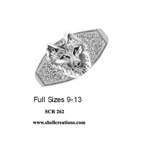SCR 262 Sterling Silver Wolf Ring