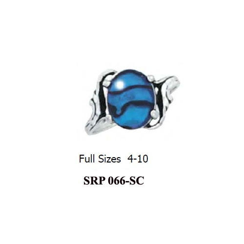 SRP-066-SC Sterling Silver Paua Shell Ring