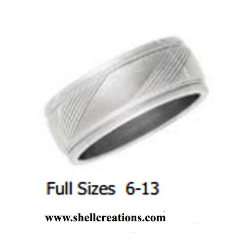 STR045 Stainless Steel Unisex Band Ring