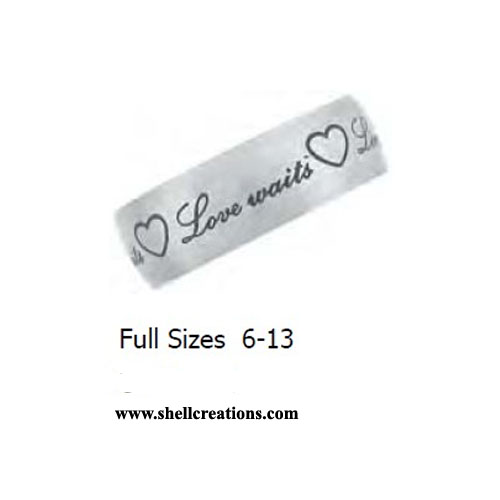 "SC-STR-051 ""True Love Waits"" Engraved Unisex Band"