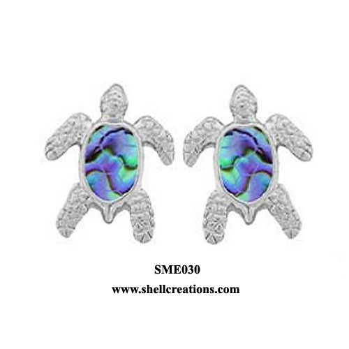 SME 030 Paua Shell Sea Turtle Studs Post