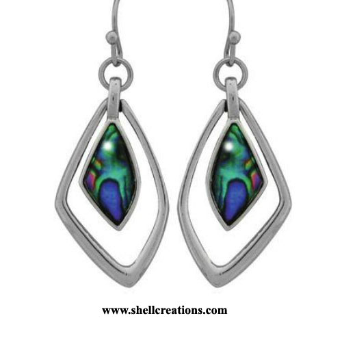 SC-118-WME Paua Shell Earrings